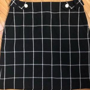 Black plaid mini skirt